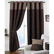 Dois Painéis Tratamento janela Moderno , Sólido Quarto Poliéster Material Cortinas cortinas Decoração para casa For Janela