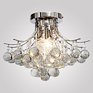 Chandelier Modern Crystal 3 Lights