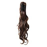 Klaue Clip kastanienbraunen langen lockigen haargummis Haarteile-3 Farben erhältlich