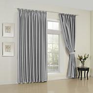 dois painéis modernos sólidos quarto cinzento cortinas painel rayon cortinas