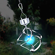 Solar LED farveskiftende Saturn Wind Spinner Hanging Spiral Light