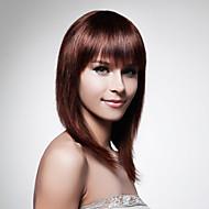 Nyitott hosszú 100% emberi haj barna egyenes haj paróka