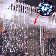 0.8Mx3M Branco lâmpada LED String com 800 LEDs - Decoração de Natal e Dia das Bruxas