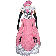 Inspiriert von Black Butler Ciel Phantomhive Anime Cosplay Kostüme Cosplay Kostüme / Kleider Patchwork Rosa Ärmellos Kleid