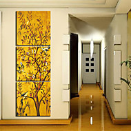 Modern Scenic Wall Clock in Canvas 3pcs K0071