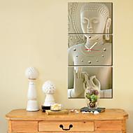style moderne bouddha horloge murale dans la série de 3 toile