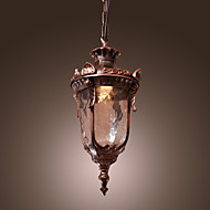 Antique Inspired Pendant Light with 1 Light