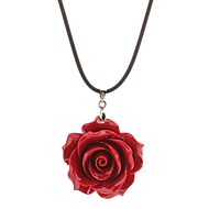 Big Red Rose Necklace