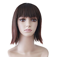 Capless Medium Brown Straight High Quality Synthetic Japanese Kanekalon Parties Wigs