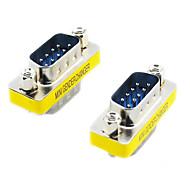 20564 RS232 DB9 9-nastainen uros-uros adapterit (Hopea & Yellow, 2 KPL)