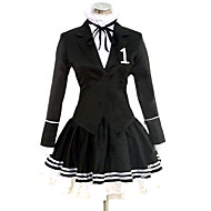 Inspired by Vocaloid Hatsune Miku Video Game Cosplay Costumes Cosplay Suits / Dresses Solid Black Long SleeveCoat / Shirt / Skirt /