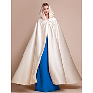 Wedding  Wraps / Hoods & Ponchos Capes Satin Champagne Wedding / Party/Evening Clasp