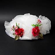 Muoti Satin / Lace kukka / lehmä Vetch Häät / Biletys / Häämatka Hat