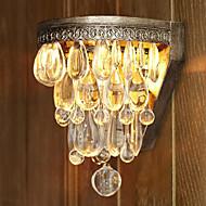 קריסטל האמנותי 60W Beaded אור קיר עם מאגר אור מתכת מהודר