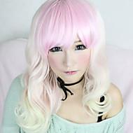 로리타의 가발은 사랑 비키 지퍼 흰색과 분홍색 혼합 55cm 코스프레에서 영감을