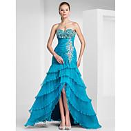 A-line Sweetheart Floor-length Organza Evening/Prom Dress