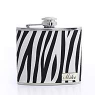 Presente personalizado da zebra-stripe 5 oz PU Couro Flask