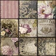 palavras lona esticada arte florais viva la paris por cor padaria pronto para pendurar