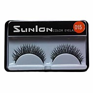 1 Pair Black Machine Made False Eyelashes SL015