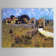 Pintada a mano Famoso Un Panel Lienzos Pintura al óleo pintada a colgar For Decoración hogareña