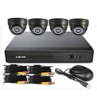 4 canales CCTV DVR System (UPNP, 4 cámaras de interior)