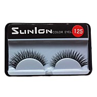 1 Pair Black Machine Made False Eyelashes SL125