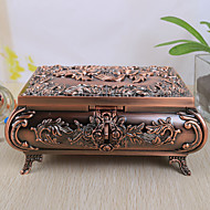 Vintage Rose Design-Alloy Frauen Schmuck-Box