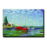 Argenteuil Circa 1872-5 by Claude Monet Famous Stretched Canvas Print