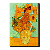Solrosor, 1889 av Vincent Van Gogh berömda Sträckt Canvastryck