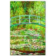 The Waterlily Pond with the Japanese Bridge, 1899 by Claude Monet Famous Art Print