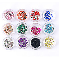12x100PCS Nail Art Acrylic Rhinestones 1.5mm Decorations(12 Mixed-Colors)