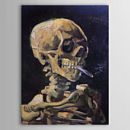 Famous Oil Painting Skull with Burning Cigarette by Van Gogh