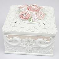 Beautiful Garden Style Square-shaped Jewelry Box