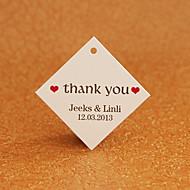 Gepersonaliseerde Rhombus Favor Tag - dank u (set van 30)