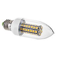 7W E26/E27 LED-stearinlyspærer C35 63 SMD 5050 650 lm Varm hvid Dekorativ Vekselstrøm 220-240 V