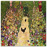 Gardenpath kanojen, 1916 Gustav Klimt Famous vedos