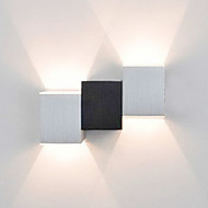 2W Modern Led Wall Light Musta Cubic Body Up Down Ray of Light