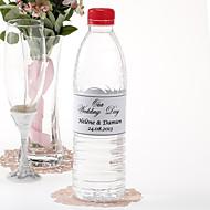 Garrafa de água personalizada Sticker - dia do nosso casamento (preto / conjunto de 15)