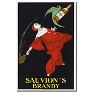 Painettu Canvas Art Vintage Sauvion n Brandy Vintage Julisteet venytetty Frame
