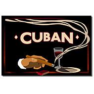 Painettu Canvas Art Vintage Kuuban by Vintage Apple Collection venytetty Frame