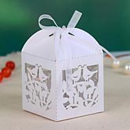 Nizza Hohle-heraus Wedding Favor Box (Satz 12)