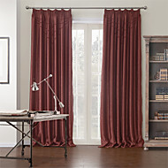 AnTi™ Two Panels  Modern Solid Cotton Polyester Blend Blackout Curtain
