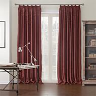 poliéster algodão cortina blecaute mistura sólida anti ™ dois painéis moderno