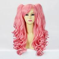 핑크 곱슬 머리 떠꺼머리 50cm 달콤한 로리타 가발