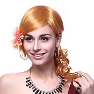 Korkiton korkealuokkaiset Quality synteettinen pitkä aaltoileva Blonde peruukit