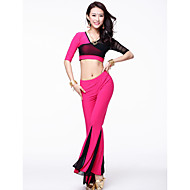 Dancewear Chinlon With Tulle Belly Dance Outfits for Ladies(More Colors)