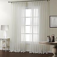 Dois Painéis Tratamento janela Moderno , Riscas Quarto Poliéster Material Sheer Curtains Shades Decoração para casa For Janela