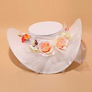 Chapeau Casque Mariage/Occasion spéciale Satin/Dentelle/Tulle/Alliage Femme Mariage/Occasion spéciale
