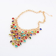 Gorgeous Alloy With Multi-color Rhinestone Women's Necklace