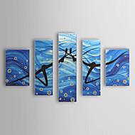 Kézzel festett Emberek Öt elem Vászon Hang festett olajfestmény For lakberendezési